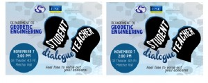 DGE Student-Teacher Dialogue: Nov. 7, 2pm at GE Theater